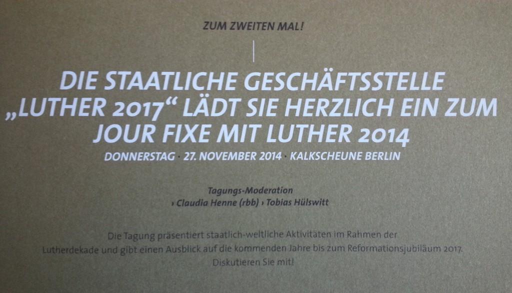 Luther Einladung Kalkscheune