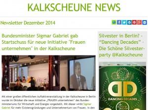 Newsletter Kalkscheune neues Design